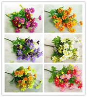 ingrosso fiori di fiori artificiali-Decorazioni di nozze del partito di casa fai da te decorazioni per la cerimonia nuziale del fiore della margherita artificiale caldo di modo