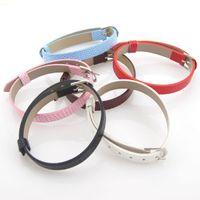 Wholesale Leather Belt Dog Collar - Min Order $5 (Mix Order) Mix 10 Colors 10mm Dog Collar DIY Leather Belt Fit Slide Letter DIY Dog Collar Belt DIY Jewelry
