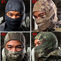 savaş maskesi toptan satış-Chiefs Rattlesnake Taktik Airsoft Avcılık Wargame Solunum Toz Geçirmez Yüz Balaclava Maske Motosiklet Kayak Bisiklet Tam Kaput
