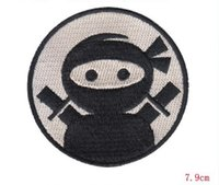 Wholesale punk patch clothing - Hot Selling Punk Rock Personality japanese love Ninja Iron on CM Cloth Decoration embroidery patch