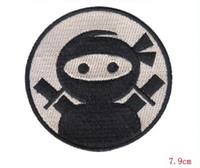 ninja dekorationen großhandel-Schnell verkaufend ! Punk Rock Persönlichkeit japanische Liebe Ninja Eisen auf 7.9cm Stoffdekoration Stickereiflecken