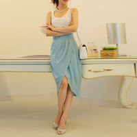 Wholesale Casual Skirt Designs For Women - Custom Made Sheath Knee Length Pencil Skirts For Women Special Designed Sexy Chiffon Skirts For Women Fashion Casual Dresses Plus Size Cheap