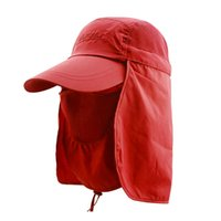 Wholesale Uv Hat Neck Protection - Wholesale-3 in 1 Outfly Outdoors 360 Degree Sun Visor Hat UV Neck Face Mask Protection Caps Quick-drying