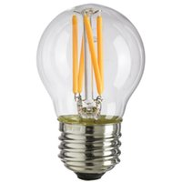 Wholesale Clear Base Glass Lamps - Dimmable,G45 Clear Glass , 4W,Edison LED Filament Bulb,Warm Cool White,E26 E27 Base Lamp,110V 220VAC