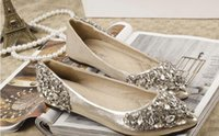 Wholesale Silver Bridal Flats - 2015 rhinestones wedding shoes Bridal Shoes with Bling Sequins Crystal Low Heel Women Shoes Wedding Shoes Free shipping SM22