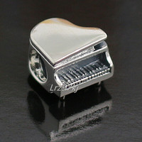 Wholesale piano pendant - 100% High-quality 2015 925 Sterling Silver Piano Bead Fits European Pandora Jewelry Bracelets Necklaces & Pendants Charm