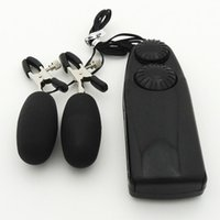 Wholesale Stimulation Adult Toys - Adult Products Clip Milk Sex Toys Electric Shock Vibrating Nipple Clamps Massager Sex Toys For Woman Nipple Stimulation