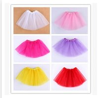 Wholesale Mini Skirts For Baby Girl - Free shipping DHL 2015 newest baby girl tiered tulle Skirts Mini Skirt tutu Skirt Pleated skirts for girls babies clothes cinderella 0248