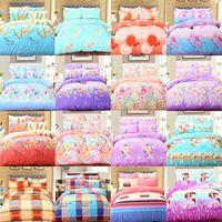 Wholesale sham bedding resale online - Soft D Duvet Cover Bedding Set Creative d Bedding duvet cover bed sheet pillow shams Ocean Theme Printed Bed Sheets Quilts DHL