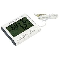 Wholesale External Thermometer - Temperature Humidity LCD Digital Thermometer Hygrometer Meter w  Wired External Sensor Electronic 2015 New DC103 H302008 1000pcs