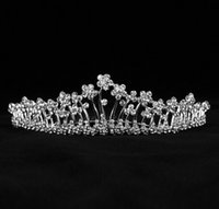 Wholesale Platinum Hair Accessories - Bridal Accessories Kate Middleton Romatic Shiny Tiaras Bridal Hair Crystals Crowns Wedding Bridal Jewelry Fascinators free shipping