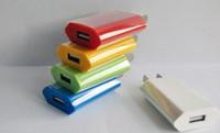 chargeur de maison mobile eu achat en gros de-coloré EU USA FLAT mini USB Wall Adapter plug Home Voyage Chargeur alimentation 1A 5V pour smartphone mobile 4s 5s 5c android s3 s4 e cigare MINI100