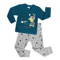 Wholesale Pajama Years - Kids Pajama Sets Boys Sleepwear 2-7 Years Girls Pijamas Suit Children pyjama T-shirt + Pants Baby Girl Boy Clothing Set