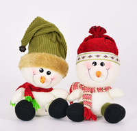 Wholesale Plush Snowman Toy - New Arival 27cm Christmas Gift Snowman Doll Navidad Christmas Decorations Pendants Toys Festival Gift For Kids