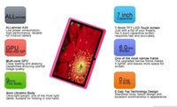 Wholesale Mid Tablet Screens - MID 7 inch Android Allwinner A33 Capacitive Screen Quad Core 512MB+8GB, Dual Camera, External 3G Tablet PC free shipping