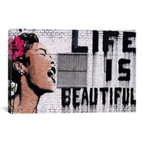 Wholesale Beautiful Oil Painting Abstract Canvas - Life is beautiful BANKSY canvas painting wall pictures for living room wall art home decoration oil painting on canvas