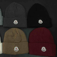 Wholesale Rain Gardens Design - wholesale 50 Design choice 6 Solid Color winter Winter Skullies beanies for Boy girl brand hat warm knitted warm Hat brand Beanies for men