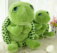 Wholesale tortoise soft toy - 20 cm New arriving Green Big Eyes Turtle dolls Cute Soft plush Tortoise high quality Funny Stuffed Animal Toy Gift for kids