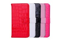 Wholesale iphone5 hybrid - Leather Case For Iphone5 6s Samsung Galaxy Note 4 5 N9200 Flip Cover With Card Holder Hybrid Wallet Case Note5 Crocodile Phone Bags