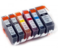 Ink Cartridge original printer cartridges - 6 x INK Cartridges PGI BK PGI525BK CLI for CANON PIXMA MG6100 MG6150 MG6250 PRINTER