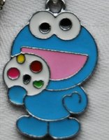 Wholesale Sesame Street Jewelry - New 50 pcs Blue Cartoon Sesame street Metal Charms Jewelry Making pendants Party gifts
