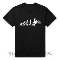 Wholesale Wholesale Motocross Clothing - Wholesale-Summer Fashion Evolution Motocross T Shirts Men Short Sleeve Cotton T-shirt Funny Sports Dirtbike Clothing