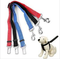 Wholesale Seatbelt Harness - BBA4094 100ps 2015 top quality factory price 4 color Adjustable Car Vehicle Safety Seatbelt Seat Belt Harness Lead for Cat Dog Pet 2.5*70CM
