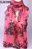 Wholesale Silk Charm Scarves - Charm scarf Autumn Summer Winter Warm Rose Shape Chiffon Ice Silk Rayon Microfiber Scarves & Wraps Shawl For Women Free Shipping