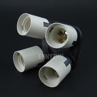 Wholesale Photo Socket - Photo Studio E27 Socket 1 to 4 Head Lamp Holder Light Bulb Splitter Converter for Softbox Photography Equipment