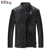 Wholesale mens cotton detachable collar resale online - new fashion leather jacket men Collar style Coat male Leather jacket for men casual work mens jackets and coats