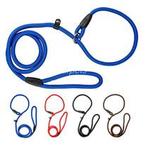 Wholesale Nylon P Leash - Brand New Nylon Dog Leash Training Dog P Leash Lead Strap Collar 4 Colors&3 Sizes