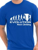 Wholesale Rock Climbing Shirt - Wholesale-Evolution Of Rock Climbing Funny Adult Mens T-Shirt Birthday Gift More Size and Colors