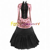Wholesale Party Gothic Lolita Dress Halloween Costumes for Adult Women Victorian Halloween dress Fancy Party Dress Customized V094