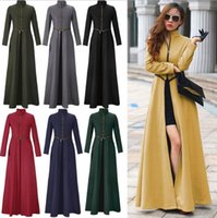 Wholesale 2015 new Winter Women Wool long trench Coats Overcoats high quality Patchwork Warm Long Jacket Zipper Split Maxi Long Wool blend coat