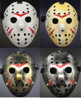jason voorhees mask groihandel-10pcs / lot Jason Voorhees Jason gegen Freddy Hockey Festival-Parteischablone Killer Maske Halloween Maskerade Maske B