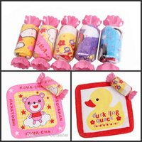 Wholesale Towel Gift Souvenir - Lovely Cartoon candy cake towel 20*20cm Square Towel Wedding Birthday Souvenirs Gifts Favor Baby Shower Towel free shipping