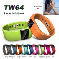 TW64 Smart-Armband Bluetooth Smart Armbänder Smart Watch Wasserdicht Passometer Schlaf-Tracker-Funktion für Android-ios-System