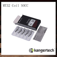 Wholesale Kanger Mini Protank - Kanger Single Coils SOCC Organic Cotton Coil Unit MT32 Coil For Evod Protank Japanese Organic Cotton Wick Protank 2 Mini Protank 2 Evod