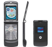 Wholesale Black Razr Phone - Refurbished Original MOTOROLA RAZR V3 V3i Unlocked Mobile Phone 1.3MP Camera Quad Band AT&T T-Mobile