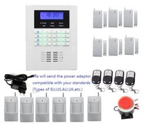 Wholesale Gsm Alarm Window System - Customized Security alarm system kit language in English,French,Russian,Italian,Chinese for option, Smart wireless PSTN GSM alarm system