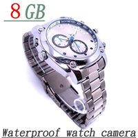 Wholesale Hd Infrared Spy Watch - W6000 FULL HD 1080P Infrared Sensor spy camera with Night vision Waterproof 8GB Watch spy Camera W6000