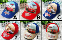Wholesale Cars Hat For Kids - McQueen cars cartoon baseball caps 2015 hot sale children accessories cotton peaked caps for kids boys fashion hats