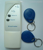 Wholesale Id Swipe - Handheld 125Khz RFID Copier Writer   Duplicator Copy ID Card+ 2pcs EM4305 Rfid rewritable Tag