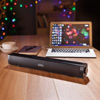 Altoparlanti Originali Singles Q1 Boombox Stereo 2.1 altoparlanti Barra lunga Bluetooth Subwoofer Hifi Soundbar LP-08 Barra sottile per PC Tablet PC
