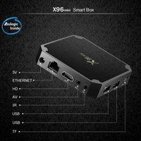 ingrosso quad core migliori smart box tv-La migliore vendita android 7.1 x96 mini S905W TVBOX 1G8G 2G16G Smart tv box Originale TV Set Top Box X96mini
