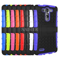 Wholesale G3s Black - Case for LG G3 mini G3 beat G3s Dual Layer Armor Hybrid Kickstand Case Shock Proof Cover LG G3 mini