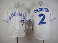 Wholesale Toronto Blue Jays Jerseys Wholesale - 2015 Toronto Blue Jays Jerseys #2 Tulowitzki Jersey White Color Jersey Size M-XXXL Mix And Match Order New Baseball Jerseys