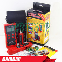 Wholesale Cable Tester Rj45 Bnc - Free Shipping English version New NF-868 Red Cable length Tester Wire Tracker Cable Scanner Breakpoint Tester FOR RJ45 RJ11 BNC USB
