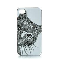 Wholesale Iphone 4s Cases Cute Cat - Wholesale Cute Cat Head Design Hard Plastic Mobile Phone Case Cover For iPhone 4 4S 5 5S 5C