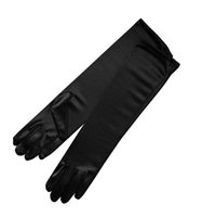 Wholesale long satin gloves black - Full Finger Long Bridal Gloves Satin 15inches Adult Wedding Party Gloves Cheap Wedding Accessories In-Stock Free Shipping New Arrival